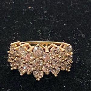 2 carat genuine diamond ring set in gold